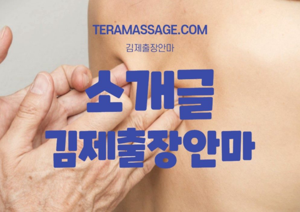 김제출장안마 소개말